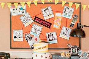 ¿cómo hacer una fiesta  de detectives? - Sospechosos en el cumpleaños de tu hijo ¡sigue las pistas!