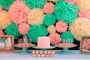 Rosa y menta para el primer cumpleaños de tu bebé - Tierna combinación para celebrar el cumpleaños de tu niña