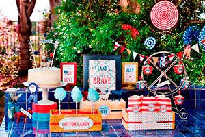 ¿cómo hacer una fiesta para el 4 de julio? - Salchichas, dulces y bebidas para un 4 de julio en familia