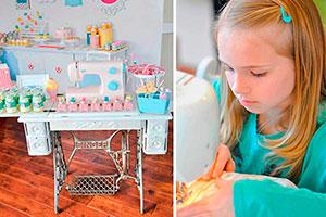 Idea para cumpleaños de niñas - Celebra su cumpleaños entre corte y costura