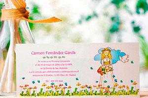 Invitaciones de primera comunión - Tipos de tarjetas para una primera comunión