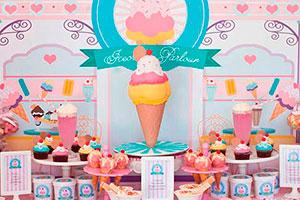 Fiesta de barquillas para niña - Cremosa diversión en su cumpleaños