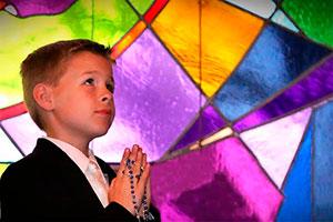 Primera comunión celeste - Azul celestial para la primera comunión