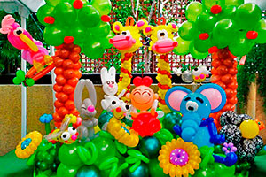 Decora con técnicas de globoflexia - Creativas esculturas de globos para tu fiesta
