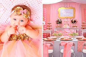 Bautizo aúreo y rosa para tu bebé - Elegante y tierno bautizo