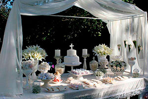 Primera comunión en color blanco - Impecable decoración para tu primera comunión
