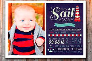 Invitaciones para el 1er cumpleaños - 6 estilos de tarjetas para el 1er cumpleaños de niños