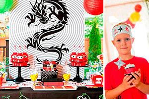 Fiesta de guerreros ninjas - Habilidades y destreza ninja  en el cumpleaños de tu hijo